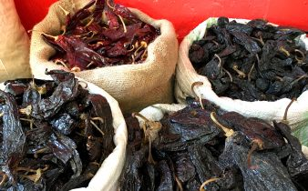 Dry Chiles at market